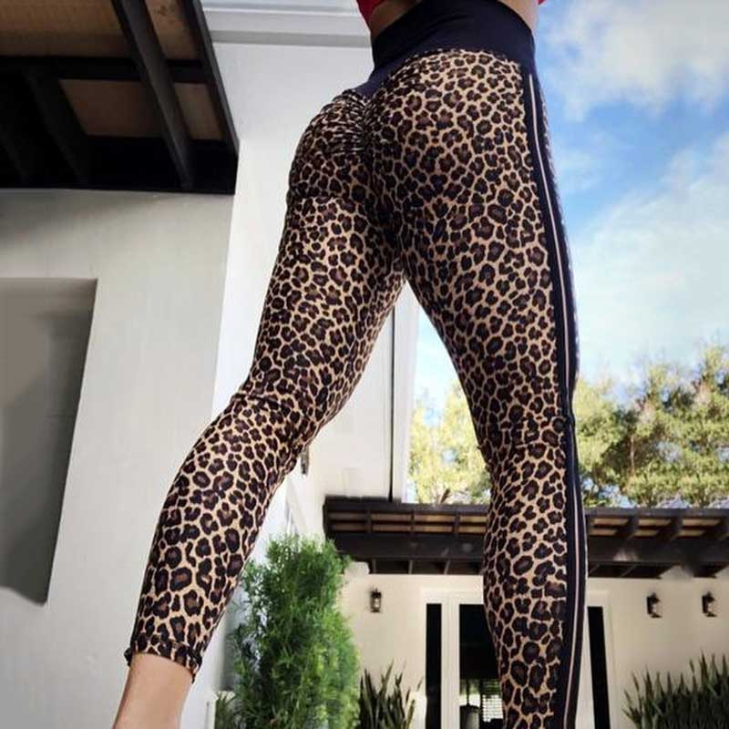 Push Up Leopard Print Leggings