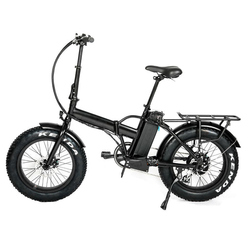 20'' Foldable Fat Tire Step Over Electric Bike - Black or Green