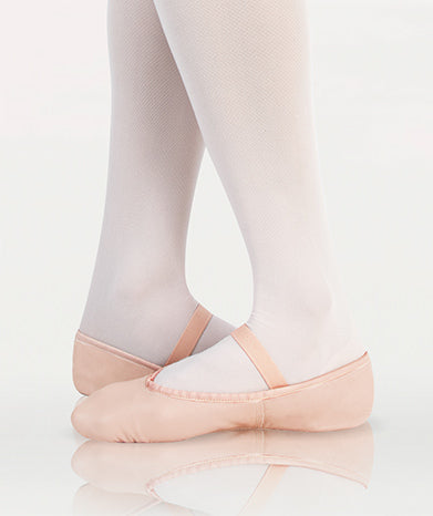 Full Sole Leather Ballet Flat - Theatrical Pink