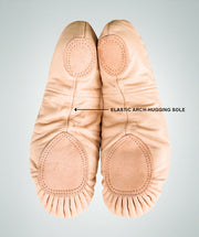 Split Sole Leather Ballet Shoes - Theatrical Pink