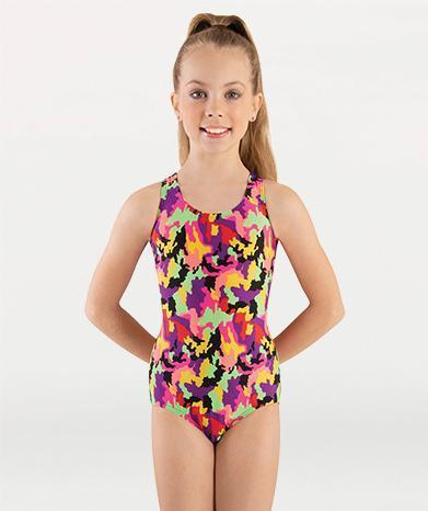 Tank Gymnastics Leotard with Keyhole Back - GIRLS
