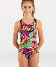 Three Keyhole Back Tank Gymnastics Leotard - GIRLS