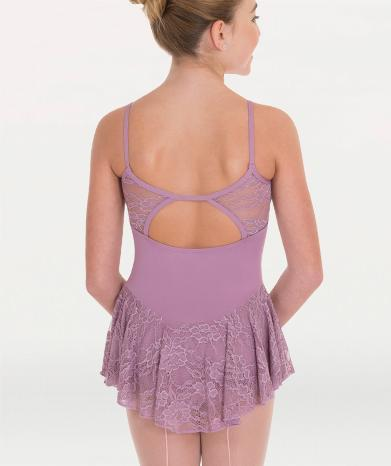 Floral Mesh Camisole Skirted Leotard - GIRLS