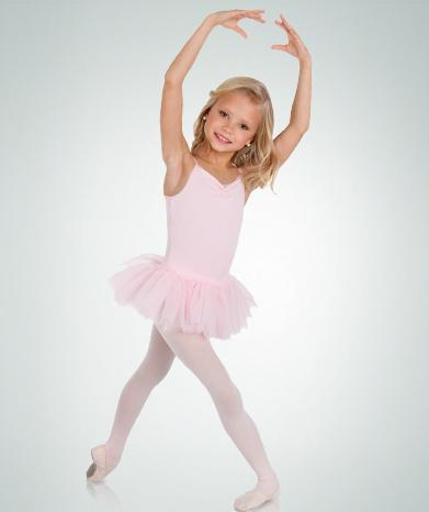 Microfiber Camisole Ballet Leotard with Tutu - GIRLS