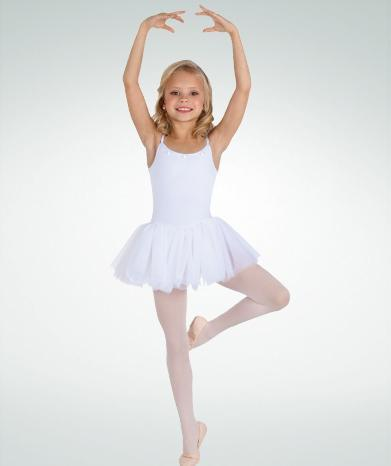 Rosette Neckline Camisole Leotard with Tutu - GIRLS