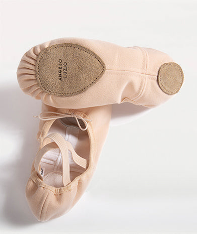Split Sole totalSTRETCH Canvas Ballet Shoes - Peach