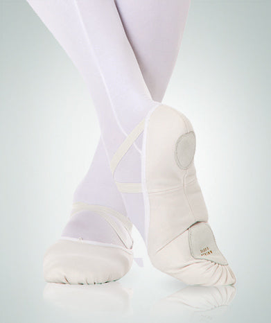 Split Sole totalSTRETCH Canvas Ballet Shoes - White