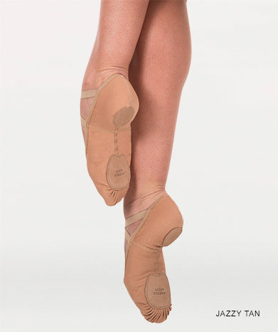 Instant-Fit Split Sole Ballet Shoes - Tan