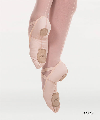 Instant-Fit Split Sole Ballet Shoes - Peach