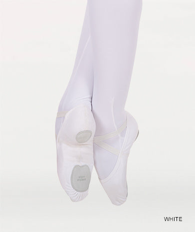 Instant-Fit Split Sole Ballet Shoes - White