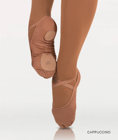 Instant-Fit Split Sole Ballet Shoes - Cappuccino