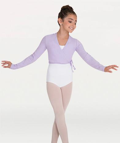 Long Sleeve Wrap Ballet Sweater - GIRLS