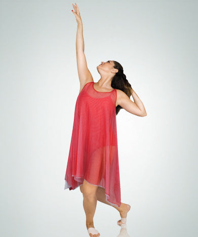 Reversible Sheer Double Layer Tank Dress - GIRLS