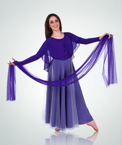 Long Full Chiffon Skirt
