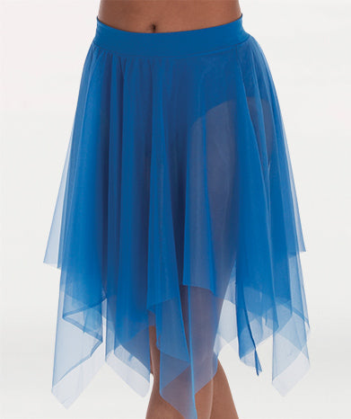 Uneven Hem Double Layer Chiffon Skirt - WOMENS