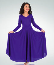 Loose Fit Long Sleeve Dance Dress - GIRLS