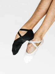 Instant-Fit Split Sole Ballet Shoes - Black