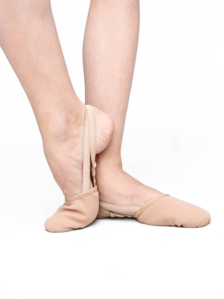 Canvas Pleated Half Sole - Tan