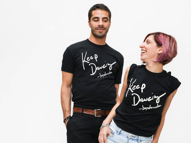 Tell your favorite boy dancer to KEEP DANCING. Keep dancing tee shirt by boysdancetoo the dance store for men