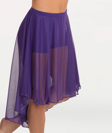 Knee Length Chiffon Skirt - WOMENS
