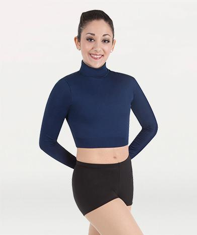 ProWEAR Long Sleeve Turtleneck Midriff Pullover - WOMENS