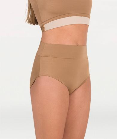 High Waist Shiny Nylon/Spandex Brief - WOMENS