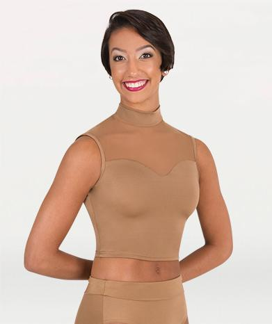 Mock Neck Sweetheart Crop Dance Top - WOMENS