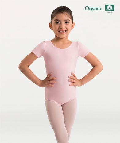 Organic Cotton Short Sleeve Leotard - GIRLS
