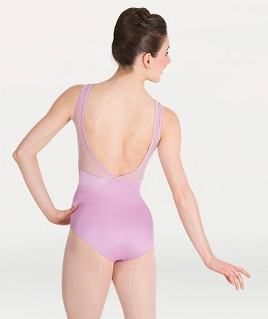 Mesh cut out tank ballet leotard for Tiler Peck Designs, a girls and womens dancewear collection for Body Wrappers by Tiler Peck, Principle Dancer of New York City Ballet NYCB who can also be seen as Sienna Milken in the Netflix series Pretty Little Things.