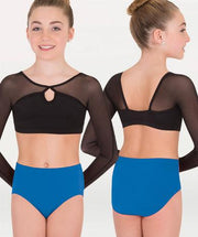This dance brief for Tiler Peck Designs, a girls and womens dancewear collection for Body Wrappers by Tiler Peck, Principle Dancer of New York City Ballet NYCB who can also be seen as Sienna Milken in the Netflix series Pretty Little Things.