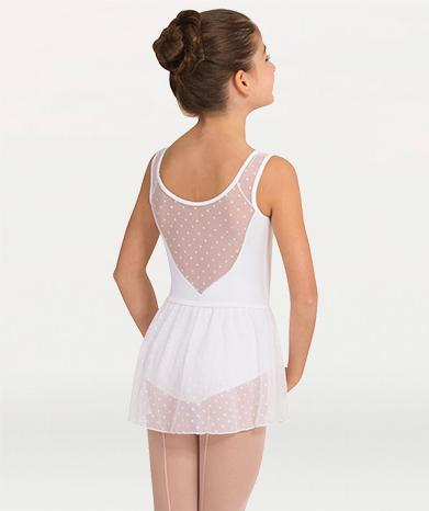 Dotted sheer ballet skirt for Tiler Peck Designs, a girls and womens dancewear collection for Body Wrappers by Tiler Peck, Principle Dancer of New York City Ballet NYCB who can also be seen as Sienna Milken in the Netflix series Pretty Little Things.