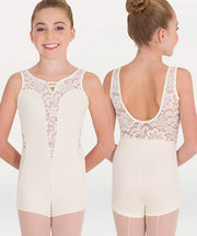 Boy-Cut Romantic Lace Leotard Tiler Peck Designs - WOMENS