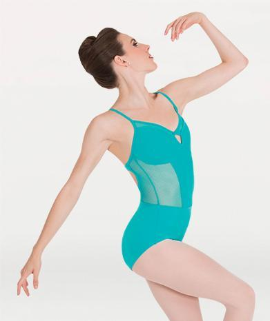 Cami mesh ballet leotard for Tiler Peck Designs, a girls and womens dancewear collection for Body Wrappers by Tiler Peck, Principle Dancer of New York City Ballet NYCB who can also be seen as Sienna Milken in the Netflix series Pretty Little Things.