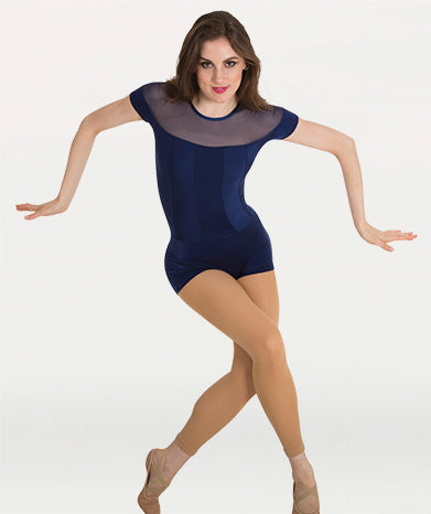 Illusion Neckline Boy-Cut Leotard Tiler Peck Designs - WOMENS