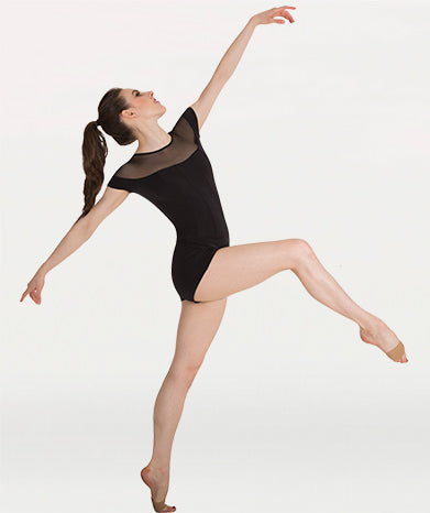 Illusion Neckline Boy-Cut Leotard Tiler Peck Designs - GIRLS