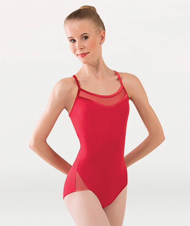 Fine Mesh Stripe H-Back Cami Leotard Tiler Peck Designs - WOMENS