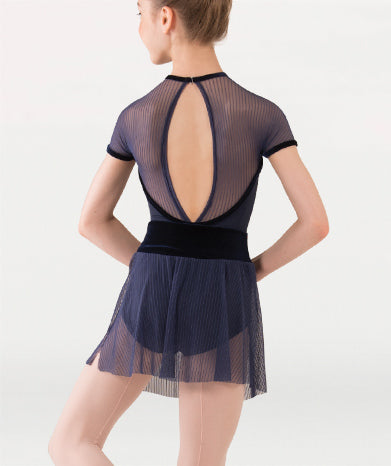 Fine Mesh Stripe Cap Sleeve Leotard Tiler Peck Designs - WOMENS