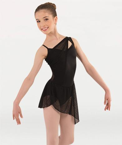 This dance dress for ballet costumes  for Tiler Peck Designs, a girls and womens dancewear collection for Body Wrappers  by Tiler Peck, Principle Dancer of New York City Ballet NYCB who can also be seen as Sienna Milken in the Netflix series Pretty Little Things.