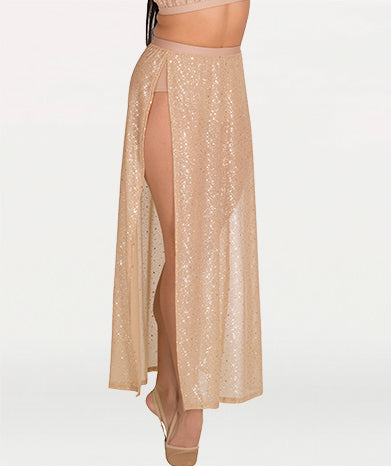 Twinkle Chiffon Side Slit Skirt - WOMENS