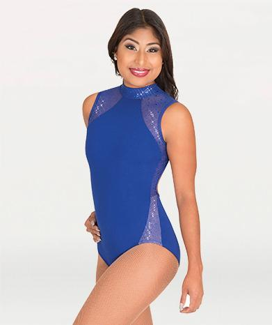 Mock Neck Open Back Leotard - GIRLS