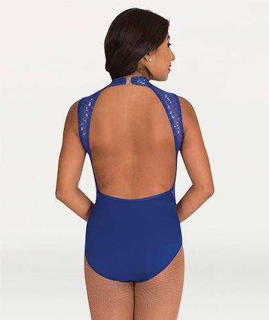 Mock Neck Open Back Leotard - WOMENS