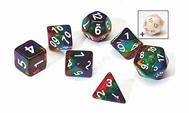 Dice Set: Rainbow Translucent 7 Die Set