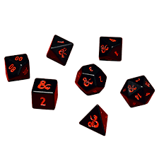 Dungeons and Dragons Heavy Metal 7 RPG Dice Set