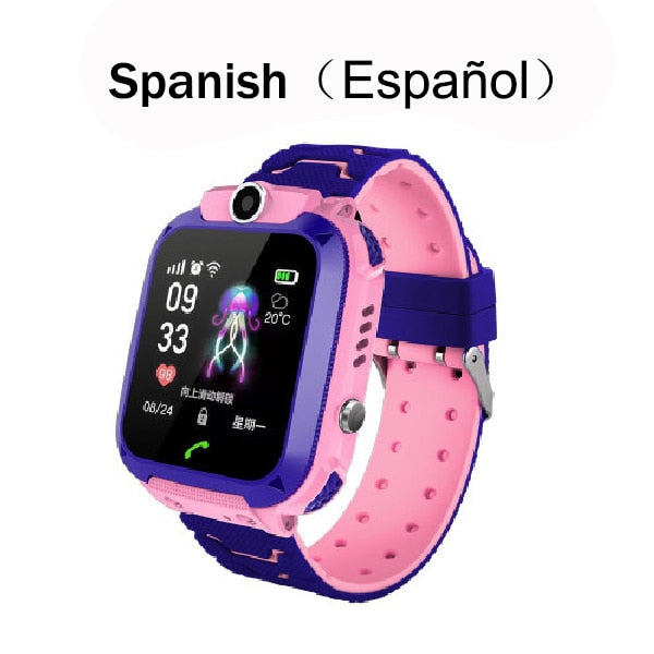 Kids Smart Watch SOS Phone Watch With Sim Card Photo Waterproof Compatible with IOS & Android