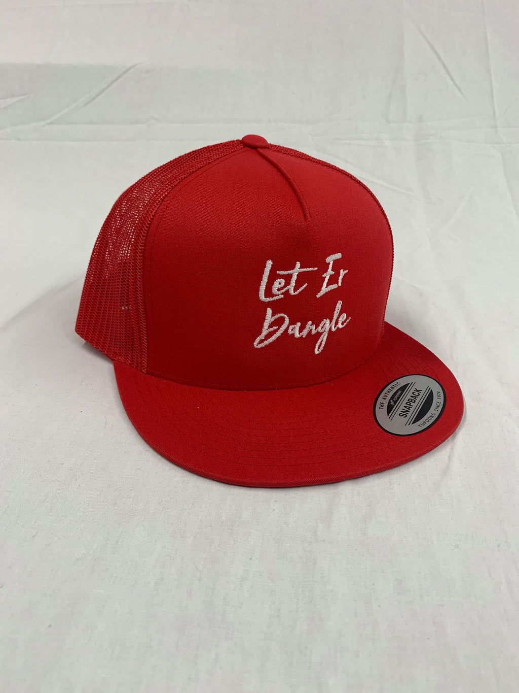 Flat Brim Snap Back - Let Er Dangle