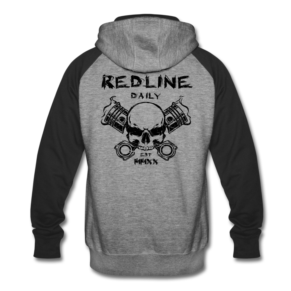 Skull Hoodie - heather gray/black