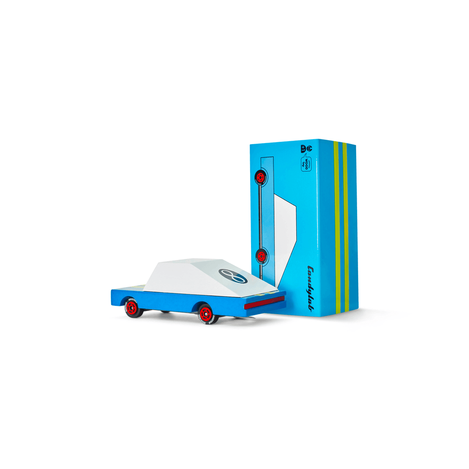 Candylab Toys - Candycar - Blue racer #8 - Tite chouette