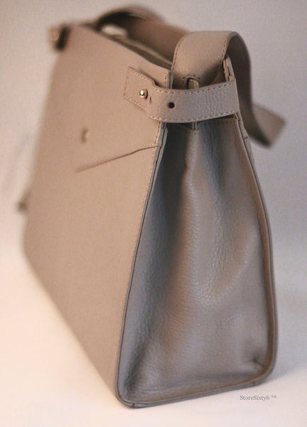Leather Hand Bag for Women - MONTE CARLO, Taupe