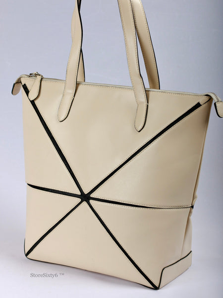 Leather Collapsible Large Tote for Women