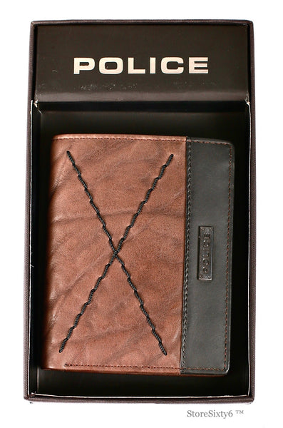 Leather North Coin Wallet - Brown/Black